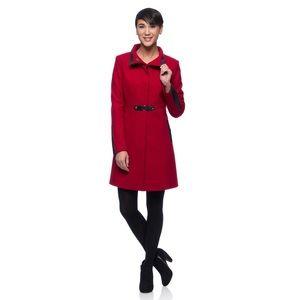 Via Spiga Red Wool Coat